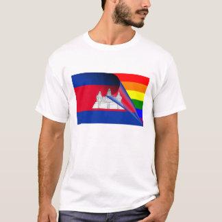 Cambodia Gay Pride Rainbow Flag T-Shirt
