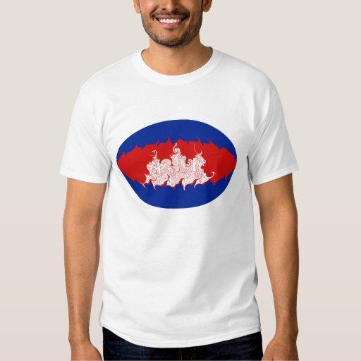 Cambodia Gnarly Flag T-Shirt