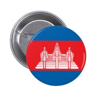 Cambodia High quality Flag Button