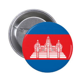 Cambodia High quality Flag Pinback Button