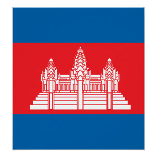 Cambodia High quality Flag Print