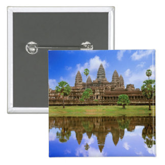 Cambodia, Kampuchea, Angkor Wat temple. 2 Inch Square Button