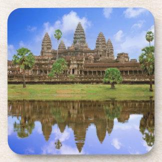 Cambodia, Kampuchea, Angkor Wat temple. Beverage Coaster