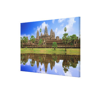 Cambodia, Kampuchea, Angkor Wat temple. Canvas Print