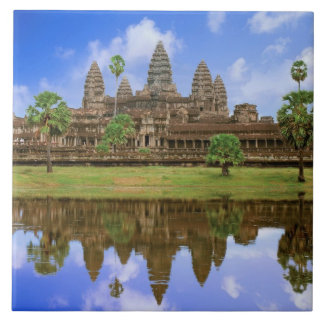 Cambodia, Kampuchea, Angkor Wat temple. Ceramic Tile