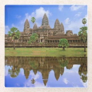 Cambodia, Kampuchea, Angkor Wat temple Glass Coaster