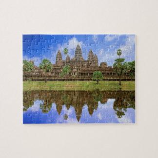 Cambodia, Kampuchea, Angkor Wat temple. Jigsaw Puzzle