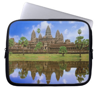 Cambodia, Kampuchea, Angkor Wat temple. Laptop Computer Sleeves