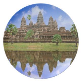 Cambodia, Kampuchea, Angkor Wat temple. Melamine Plate