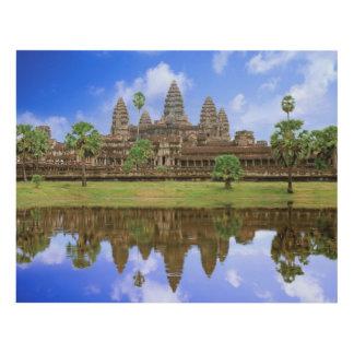 Cambodia, Kampuchea, Angkor Wat temple Panel Wall Art