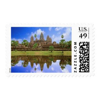 Cambodia, Kampuchea, Angkor Wat temple. Postage Stamp