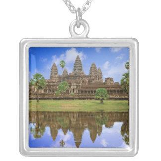 Cambodia, Kampuchea, Angkor Wat temple. Square Pendant Necklace