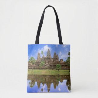 Cambodia, Kampuchea, Angkor Wat temple Tote Bag