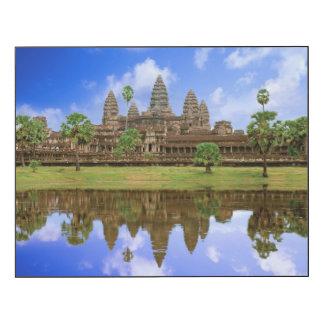 Cambodia, Kampuchea, Angkor Wat temple Wood Print