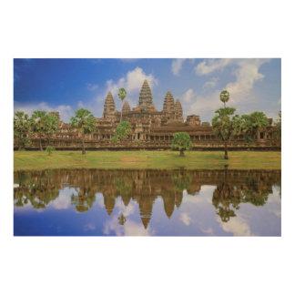 Cambodia, Kampuchea, Angkor Wat temple Wood Wall Art
