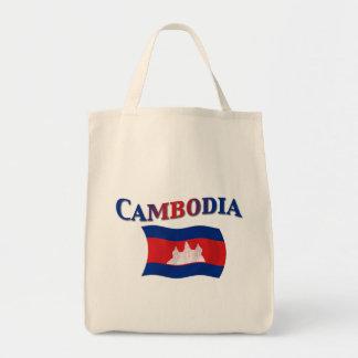 Cambodia National Flag Canvas Bag