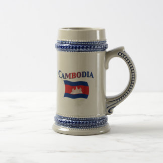 Cambodia National Flag Beer Stein