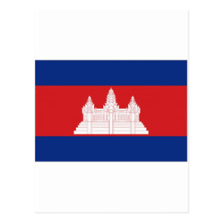 Cambodia National Flag Postcard