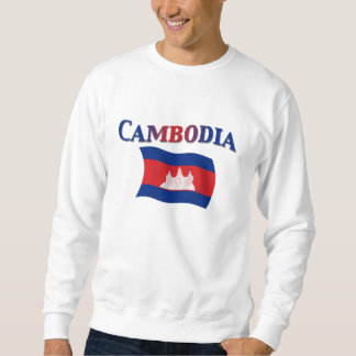 Cambodia National Flag Pullover Sweatshirt