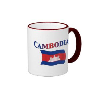 Cambodia National Flag Ringer Mug