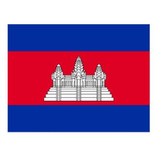 Cambodia National World Flag Postcard