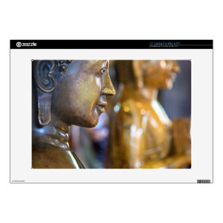 "Cambodia, Phnom Penh. Buddha statues Skin For 15"" Laptop"