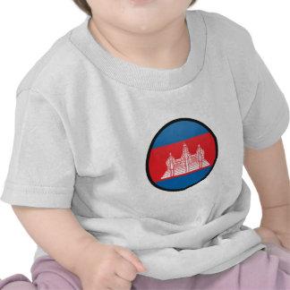 Cambodia quality Flag Circle Tee Shirts