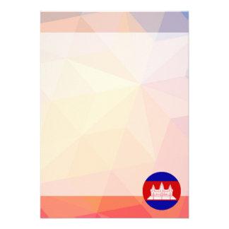 """Cambodia Souvenir 5"""" X 7"""" Invitation Card"""
