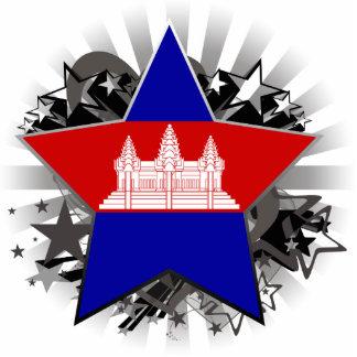Cambodia Star Standing Photo Sculpture