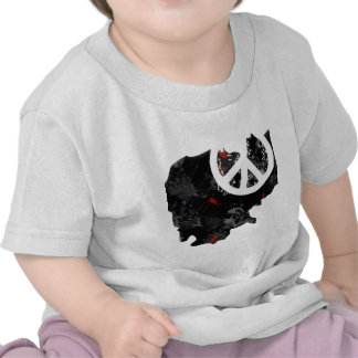 Cambodia Trendy Peace Sign with Cambodian map Tshirt