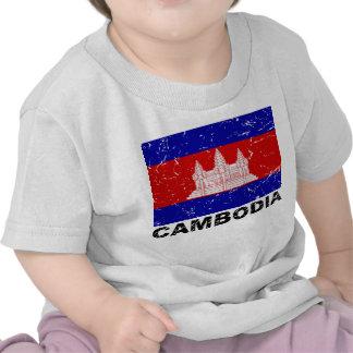 Cambodia Vintage Flag T-shirt