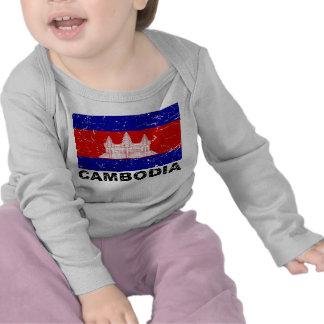 Cambodia Vintage Flag Shirt