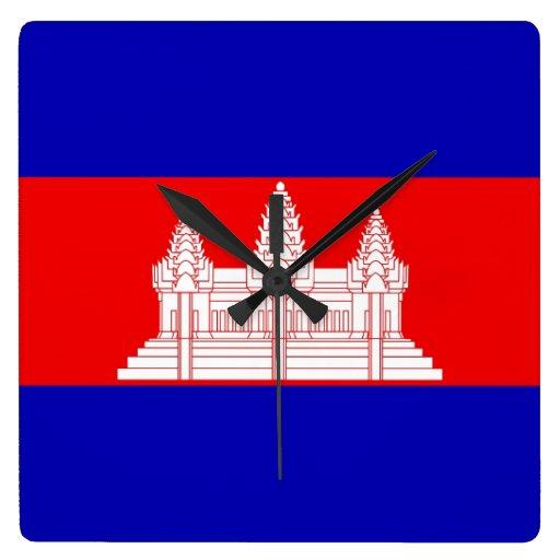 CAMBODIA WALLCLOCK