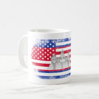 Cambodian American Flag   Cambodia and USA Design Coffee Mug