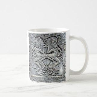 Cambodian dancers stone carving coffee mug