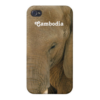 Cambodian Elephant iPhone 4 Cover