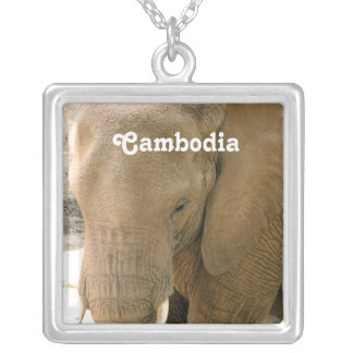 Cambodian Elephant Silver Plated Necklace