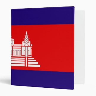 Cambodian Flag Binder