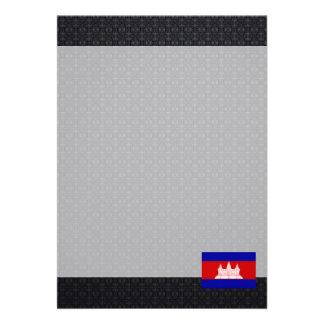 "Cambodian flag 5"" x 7"" invitation card"