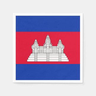 Cambodian flag standard cocktail napkin