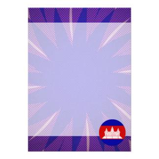 "Cambodian Flag Souvenir 5"" X 7"" Invitation Card"