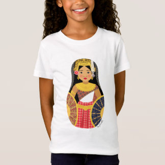 Cambodian Girl Matryoshka Girls Baby Doll (Fitted) T-Shirt
