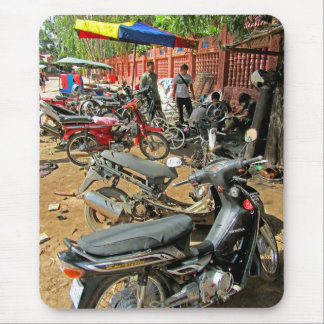 Cambodian Motorcycle Workshop 1 Mouse Pad