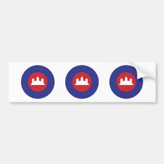 Cambodian Roundel Bumper Sticker