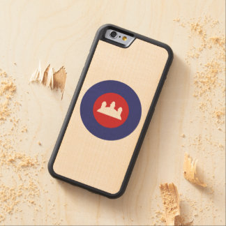 Cambodian Roundel Carved® Maple iPhone 6 Bumper Case