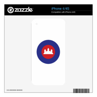 Cambodian Roundel Skin For The iPhone 4