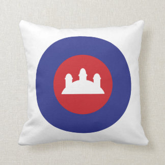 Cambodian Roundel Throw Pillow