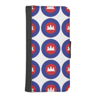 Cambodian Roundel Wallet Phone Case For iPhone SE/5/5s