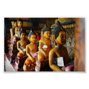 Cambodian sitting Buddhas Poster