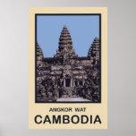 Camboya Angkor Wat Póster